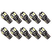 10pcs t10 8 smd 5630 llevó luces de estacionamiento auto libres del error del canbus w5w 8smd llevaron las lámparas de lectura de los