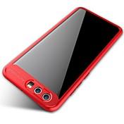 Funda Para Huawei Espejo Transparente Funda Trasera Color sólido Suave Silicona para Honor 9 Honor V9 Huawei