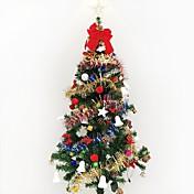 1pc 1.5 m / 150cm lujo cifrado árbol de navidad decorado sala de estar suite hotel paquetes navidad gif año nuevo