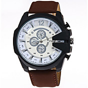 Hombre El reloj mecánico Gran venta / Cool Piel Banda Negro / Marrón / Verde / Acero Inoxidable