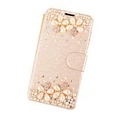 Para Funda iPhone 5 Diamantes Sintéticos / con Soporte / Flip Funda Cuerpo Entero Funda Flor Dura Cuero Sintético para AppleiPhone 7 Plus