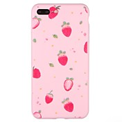 Caso para el iphone de la manzana 7 más la caja de la contraportada del patrón del iphone 7cover tpu suave de la fruta para el iphone 6s
