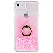 Etui Til Apple iPhone 7 Plus iPhone 7 Flommende væske Ringholder Bakdeksel Glimtende Glitter Hard PC til iPhone 7 Plus iPhone 7 iPhone 6s