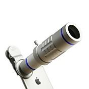 hd 전화 렌즈 키트 18 배 줌 망원 0.45 배 광각 15 배속 슈퍼 매크로 렌즈 iphone 용 삼성 스마트 폰 클립 카메라 렌즈 서브 실버