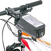 자전거 가방 자전거 프레임 백 반사 스트립 착용 가능한 경량 싸이클 가방 나일론 싸이클 백 전체 핸드폰 사이클링