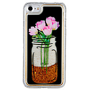 Etui Til Apple iPhone 7 Plus iPhone 7 Flommende væske Mønster Bakdeksel Blomsternål i krystall Glimtende Glitter Hard PC til iPhone 7