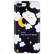 Funda Para Apple iPhone 7 Plus iPhone 7 Diseños Blando Manualidades Funda Trasera Dibujo 3D Suave TPU para iPhone 7 Plus iPhone 7 iPhone