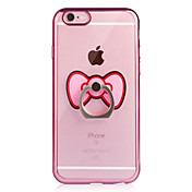 Etui Til Apple iPhone 6 iPhone 6 Plus Belegg Ringholder Gjennomsiktig Bakdeksel Sommerfugl Myk TPU til iPhone 6s Plus iPhone 6s iPhone 6