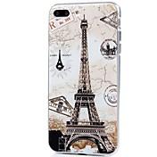 Etui Til Apple iPhone X iPhone 8 Ultratynn Mønster Bakdeksel Eiffeltårnet Myk TPU til iPhone X iPhone 8 Plus iPhone 8 iPhone 7 Plus