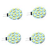 4stk 1W 200 lm G4 LED-lamper med G-sokkel T 15 leds SMD 5730 Dekorativ Varm hvit Kjølig hvit DC 12-24V