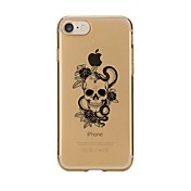 Funda Para Apple iPhone 7 / iPhone 7 Plus Transparente / Diseños Funda Trasera Cráneos Suave TPU para iPhone 7 Plus / iPhone 7 / iPhone 6s Plus