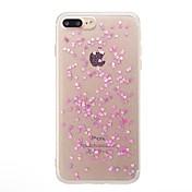 Para iPhone X iPhone 8 Carcasa Funda Traslúcido Cubierta Trasera Funda Corazón Brillante Suave TPU para Apple iPhone X iPhone 8 Plus