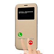 Para iPhone X iPhone 8 Plus Carcasa Funda con Soporte con Ventana Flip Activación al abrir/Reposo al cerrar Cuerpo Entero Funda Color