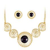 Mujer Pendientes cortos Collar Cristal Cristal Brillante Gota Lujo Moda Fiesta Pendientes Collares Joyería de disfraz