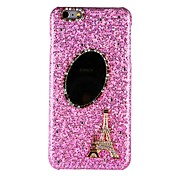 Etui Til Apple iPhone X iPhone 8 iPhone 8 Plus Rhinstein Speil Bakdeksel Glimtende Glitter Eiffeltårnet Hard PC til iPhone X iPhone 8