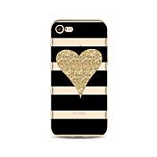 케이스 제품 Apple iPhone X iPhone 8 패턴 뒷면 커버 라인 / 웨이브 심장 글리터 샤인 소프트 TPU 용 iPhone X iPhone 8 Plus iPhone 8 아이폰 7 플러스 아이폰 (7) iPhone 6s Plus