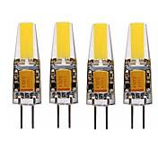 SENCART 4stk 4W 3000-3500/6000-6500 lm G4 LED-kornpærer T 1 leds Integrert LED Vanntett Dekorativ Varm hvit Kjølig hvit AC 12V DC 12 V