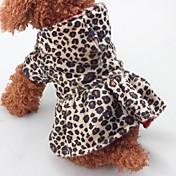 Navidad Ropa para Perro Leopardo Leopardo Algodón Disfraz Para mascotas Una pieza Mantiene abrigado