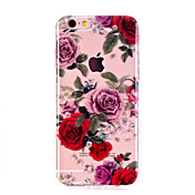 For Case Cover Ultra-thin Transparent Pattern Back Cover Case Flower Soft TPU for Apple iPhone X iPhone 8 Plus iPhone 8 iPhone 7 Plus