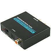 2 RCA COAX Convertidor, 2 RCA COAX to Audio jack de 3.5mm Convertidor Macho - Hembra 1080P Cobre dorado 15.0m (50 pies) 4.0 Gbps