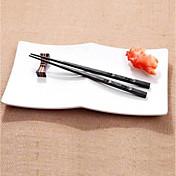1 par japansk spisepinner legering glidende sushi chop pinner satt kinesisk gave