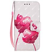 Etui Til Apple iPhone X iPhone 8 Plus Kortholder Lommebok med stativ Flipp Magnetisk Mønster Heldekkende etui Blomsternål i krystall Hard