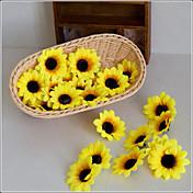 Flores Artificiales 10 Rama Estilo Pastoral Girasoles Flor de Mesa