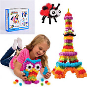 nye bunchems god pakke nybygg leketøy 370 stk DIY barna leke 36 tilbehør kit barnas beste gaven