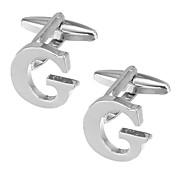 Alfabet Formet Sølv Mansjettknapper Kobber Victoria Style Valentine Herre Kostyme smykker