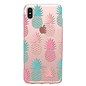 Para iPhone X iPhone 8 Carcasa Funda Transparente Diseños Cubierta Trasera Funda Fruta Suave TPU para Apple iPhone X iPhone 8 Plus iPhone