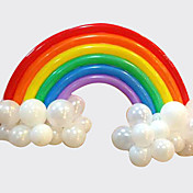 regnbue ballong sett bursdagsfest bryllup dekor (20 lang ballong, 16 runde ballong
