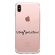 Etui Til Apple iPhone X iPhone 8 Gjennomsiktig Mønster Bakdeksel Ord / setning Myk TPU til iPhone X iPhone 8 Plus iPhone 8 iPhone 7 Plus