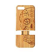 Etui Til iPhone 7 Plus / Apple iPhone 8 Plus / iPhone 7 Plus Støtsikker Bakdeksel Trefiber Hard Bambus til iPhone 8 Plus / iPhone 7 Plus