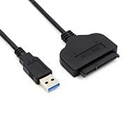 USB 3.0 어댑터 케이블, USB 3.0 to SATA II 어댑터 케이블 Male - Male 짧은 (20 cm이하)