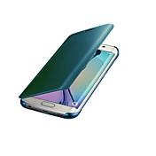 Etui Til Samsung Galaxy S8 S7 Speil Auto Sove/Våkne Heldekkende etui Helfarge Hard PC til S8 Plus S8 S7 edge S7 S6 edge plus S6 edge S6