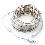 15 m 900SMD LED 5050 SMD Varm hvit / Hvit / Rød Kuttbar / Vanntett 220 V