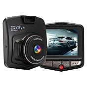 M001 HD 1280 x 720 140각도 자동차 DVR Generalplus 2.4 인치 대시 캠 화이트 발란스 사진 내장 마이크 WDR 루프 레코딩 움직임 감지 G-Sensor 나이트 비젼