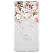 Funda Para Apple iPhone 8 / iPhone 8 Plus / iPhone 7 En Relieve / Diseños Funda Trasera Caricatura / Flor Suave TPU para iPhone 8 Plus / iPhone 8 / iPhone 7 Plus