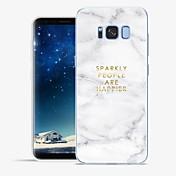 Funda Para Samsung Galaxy S8 Plus S8 Diseños Funda de Cuerpo Entero Palabra / Frase Mármol Suave TPU para S8 Plus S8 S7 edge S7 S6 edge