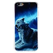 Funda Para Apple iPhone 6 iPhone 6 Plus iPhone 7 Plus iPhone 7 Diseños Funda Trasera Gato Animal Suave TPU para iPhone 7 Plus iPhone 7