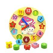 Reloj de madera de juguete Juguete Educativo Juguetes Forma Geométrica Educación de madera Niños Piezas