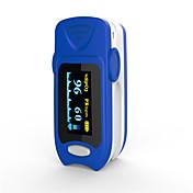nøyaktig fs20a oled fingertopp puls oximeter oximetry blod oksygenmetning monitor med batterier blå farge