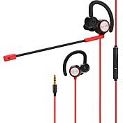 v6 En el oido Con Cable Auriculares Dinámica PVC (PVJ) PEVA De Videojuegos Auricular Dual Drivers Auriculares