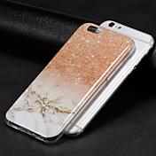 Etui Til Apple iPhone X / iPhone 8 IMD Bakdeksel Marmor Myk TPU til iPhone X / iPhone 8 Plus / iPhone 8