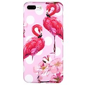 Etui Til Apple iPhone 6 iPhone 7 IMD Mønster Bakdeksel Flamingo Geometrisk mønster Tegneserie Myk TPU til iPhone X iPhone 8 Plus iPhone 8