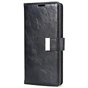 Funda Para Samsung Nota 8 Soporte de Coche con Soporte Funda de Cuerpo Entero Color sólido Dura Cuero de PU para Note 8