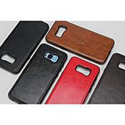 Funda Para Samsung S8 S7 Confortable Funda Trasera Color sólido Dura Cuero de PU para S8 Plus S8 S7 edge S7 S6 edge S6