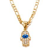 Hombre / Mujer Cristal Collares con colgantes - Chapado en Oro Moda Dorado Gargantillas 1 Para Cumpleaños, Regalo