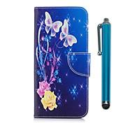Funda Para Apple iPhone X iPhone 8 Plus Soporte de Coche Cartera con Soporte Flip Magnética Funda de Cuerpo Entero Mariposa Dura Cuero de