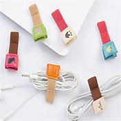 Kabelkontroll Kabel arrangør ekte lær iPhone 8 Plus / 7 Plus / 6S Plus / 6 Plus